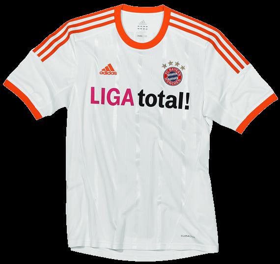 19790c772a O Bayern de Munique já possui uma nova camisa reserva para a próxima  temporada 2012 13. A Adidas divulgou o uniforme do clube que é branco