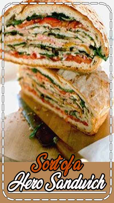 Layers of bread hold this multilevel vegetable sandwich together. To transport: Place it on a round board or flat plate, and wrap tightly in plastic. Unwrap and slice just before serving.