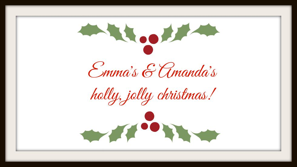 It's a holly jolly christmas! -Julblogg-