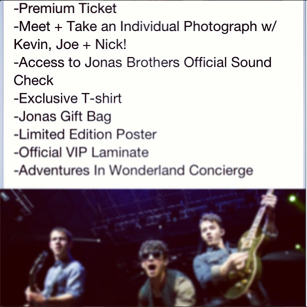 real actually jonas brothers meet greet passes for sale