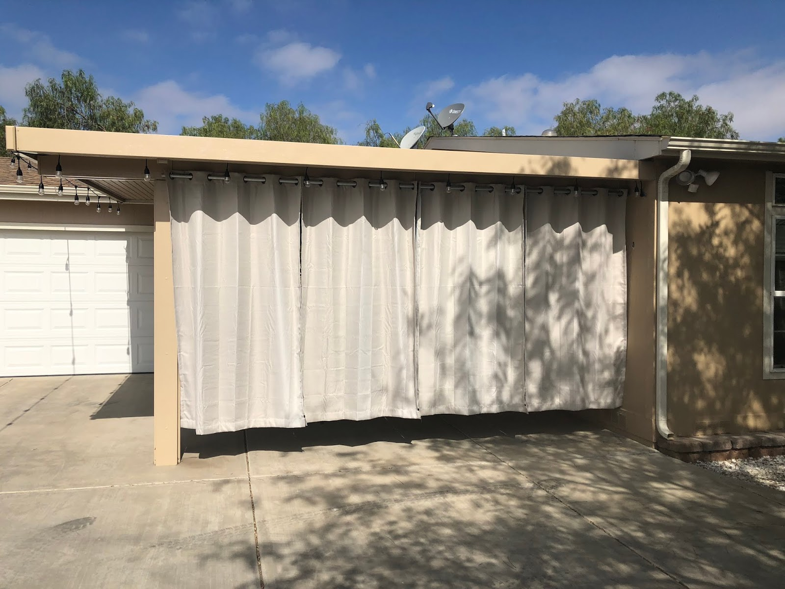 hang shade and privacy curtains