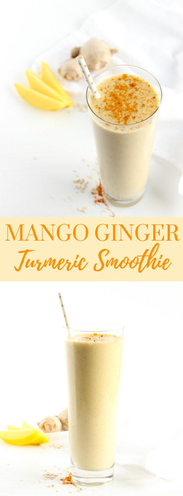 MANGO GINGER TURMERIC SMOOTHIE #healthydrink #smoothies