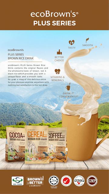 Minuman Baharu ecoBrown's PLUS Series Brown Rice Drink