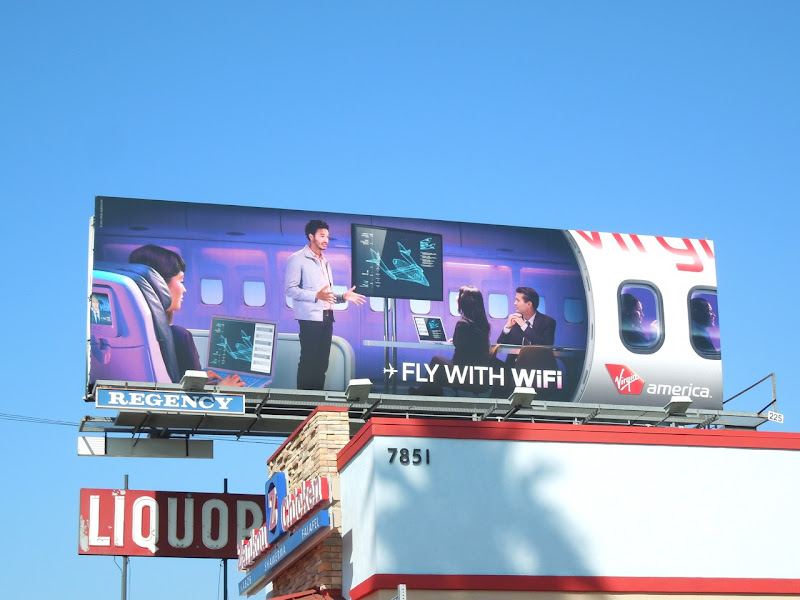 Virgin America Fly WiFi billboard