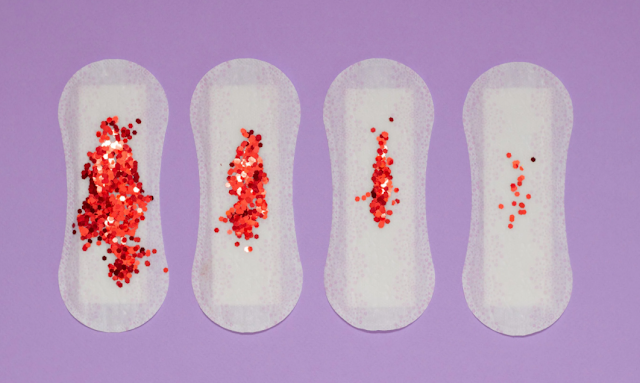 Sanitary Pads with glitter on
