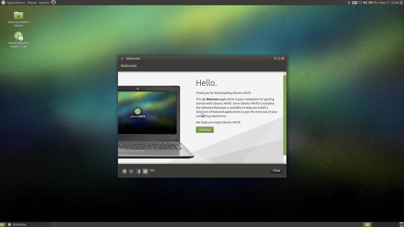 ubuntu home office. Ubuntu MATE 17.04 Welcome Home Office I