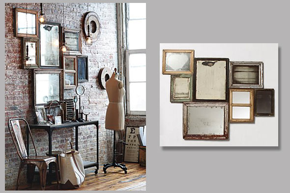 I LOVE frame collages but this mirror collage looks especially beautiful  and rustic. This design was inspired by a uniform piece by Anthropologie  that you ...
