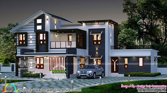 2609 sq-ft 5 BHK modern house plan