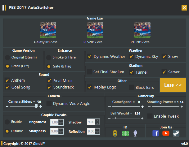 PES 2017 AutoSwitcher V6 0 [AIO-FINAL] + FIX By Ginda01