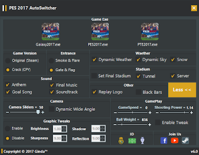 PES 2017 AutoSwitcher V6.0 [AIO-FINAL] + FIX By Ginda01