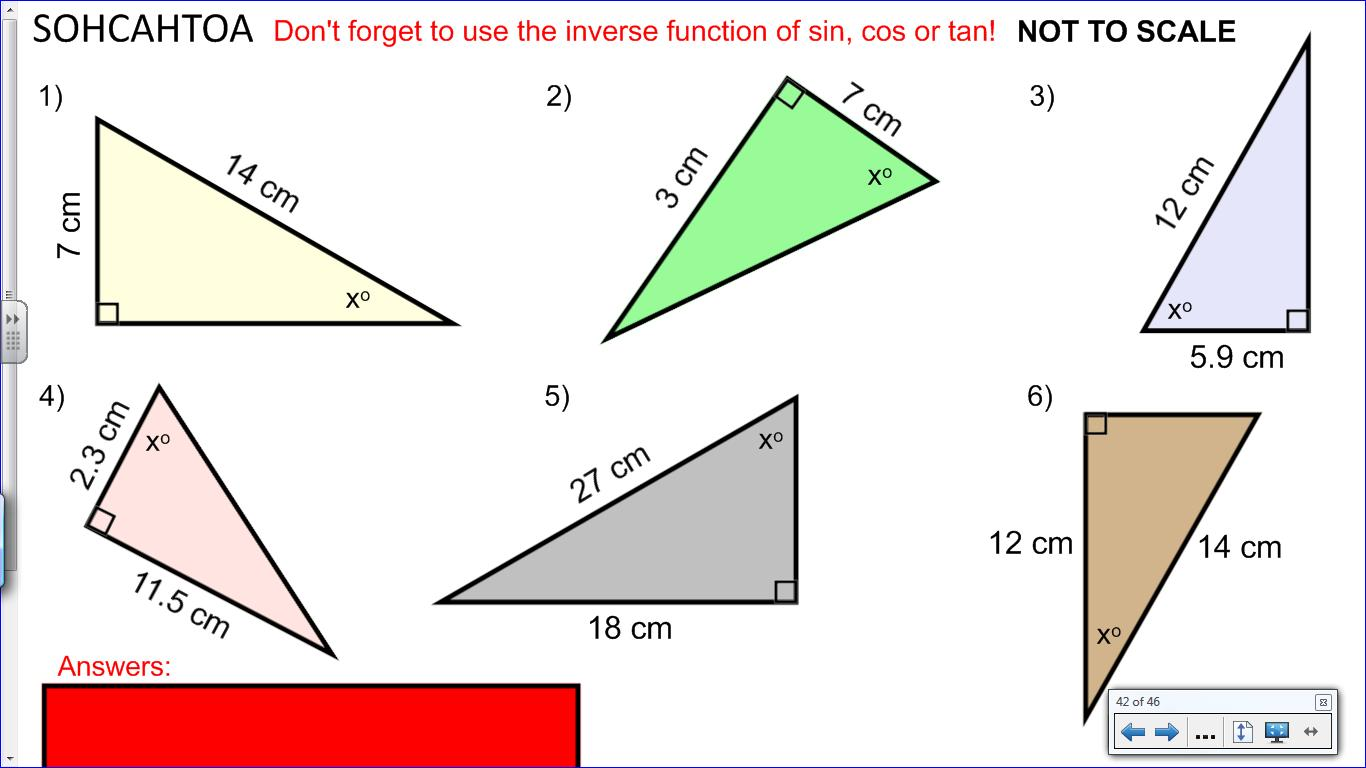 Maths Trigonometry Worksheets Gcse