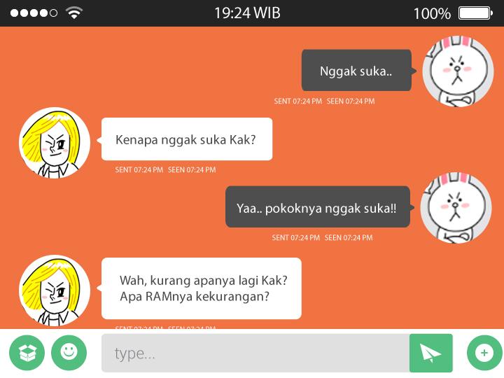 Chatting 2 - Contoh Penggunaan Perasaan