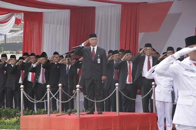 Peringatan HUT RI ke 74, OJK Lampung Libatkan Perwakilan LJK Sebagai Petugas