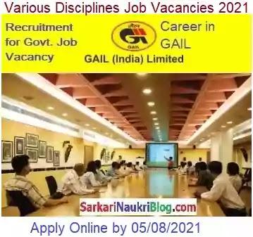 GAIL India Job Vacancy 2021