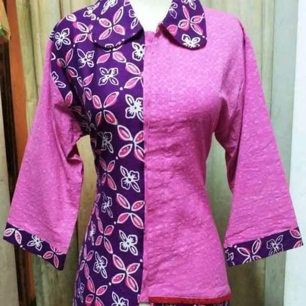 Baju Embos Kombinasi Batik: Model Baju Batik Embos Kombinasi Kain Polos, Sifon, Bolero