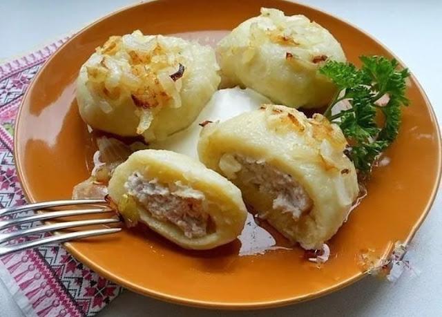 Картофельные галушки с мясом картинка