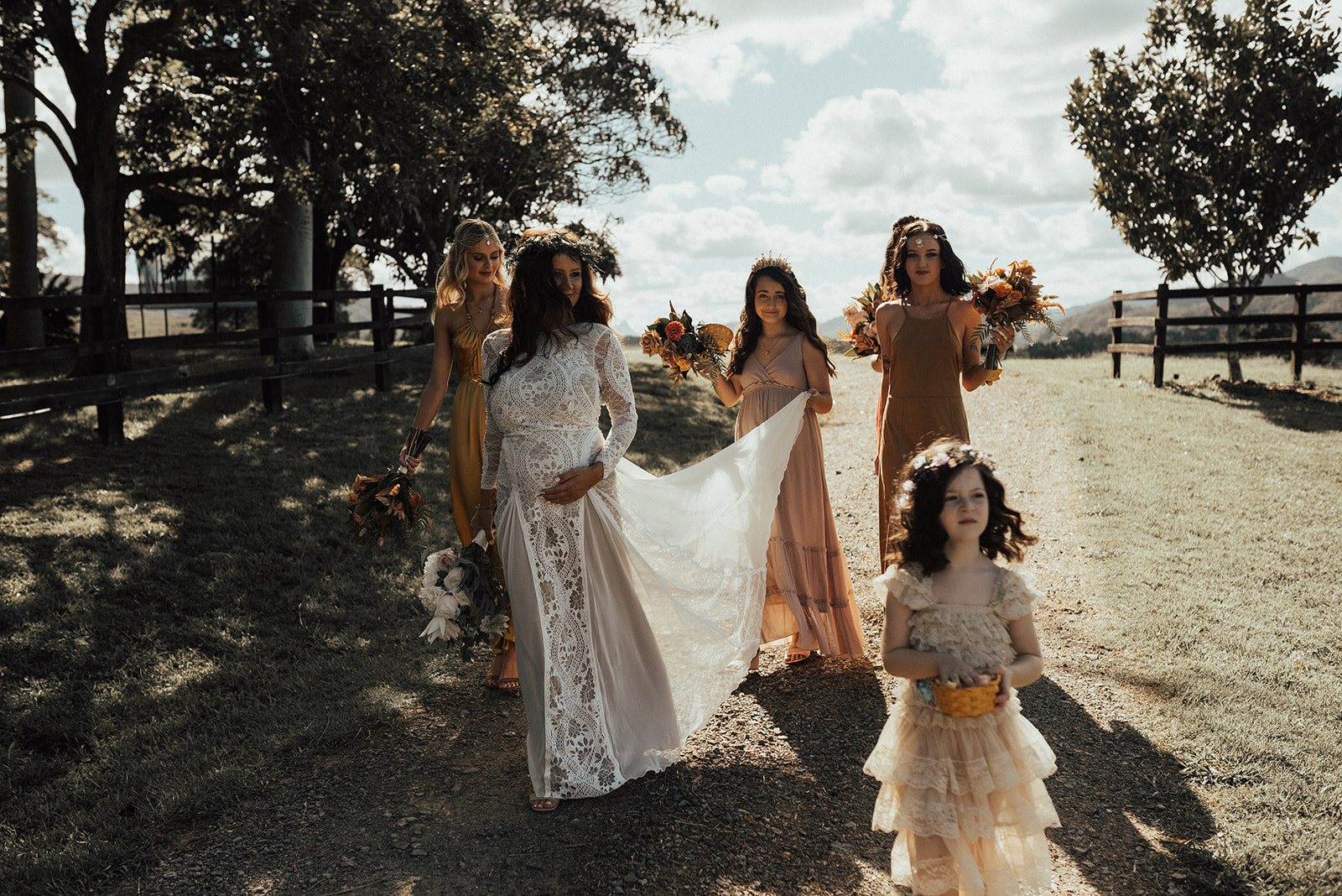 bird and boy real weddings byon bay nsw grace loves lace bride boho gypsy floral design