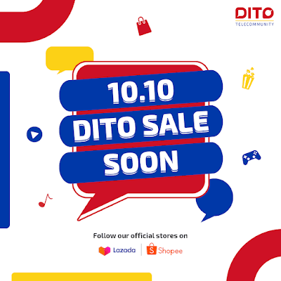 Enjoy MEGA deals and livestreams from DITO this 10.10 on Lazada  and Shopee!
