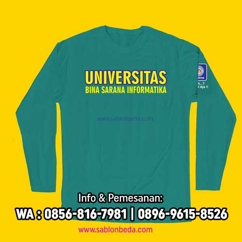 Kaos Ormik BSI 2021 Warna Hijau Tosca ukuran lengkap lengan pendek dan panjang