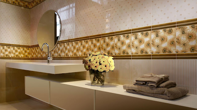 Toilet tiles design images with BRENNERO