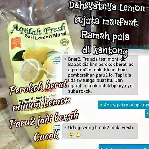 Testimoni Pengguna Sari Lemon Aqiilah Fresh - Membersihkan racun di paru-paru - detox