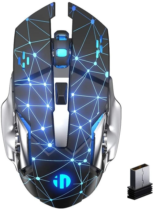 Review Inphic Rechargeable Silent USB 2.4G Gaming Mouse