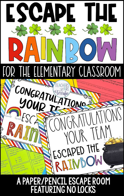 Escape the Rainbow- an upper elementary escape room with no locks or boxes. Easy prep, highly engaging.