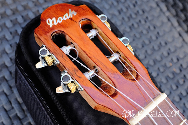 Noah Classic Sunburst Tenor Ukulele headstock