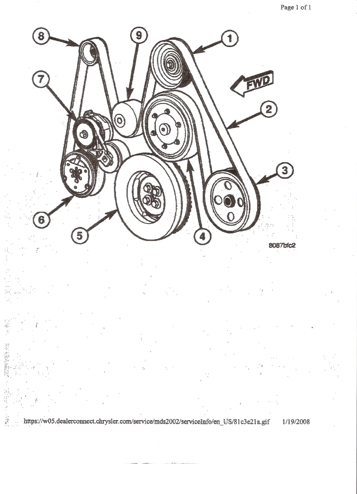 Dodge Serpentine Belt Diagram Dodge Free Engine Image
