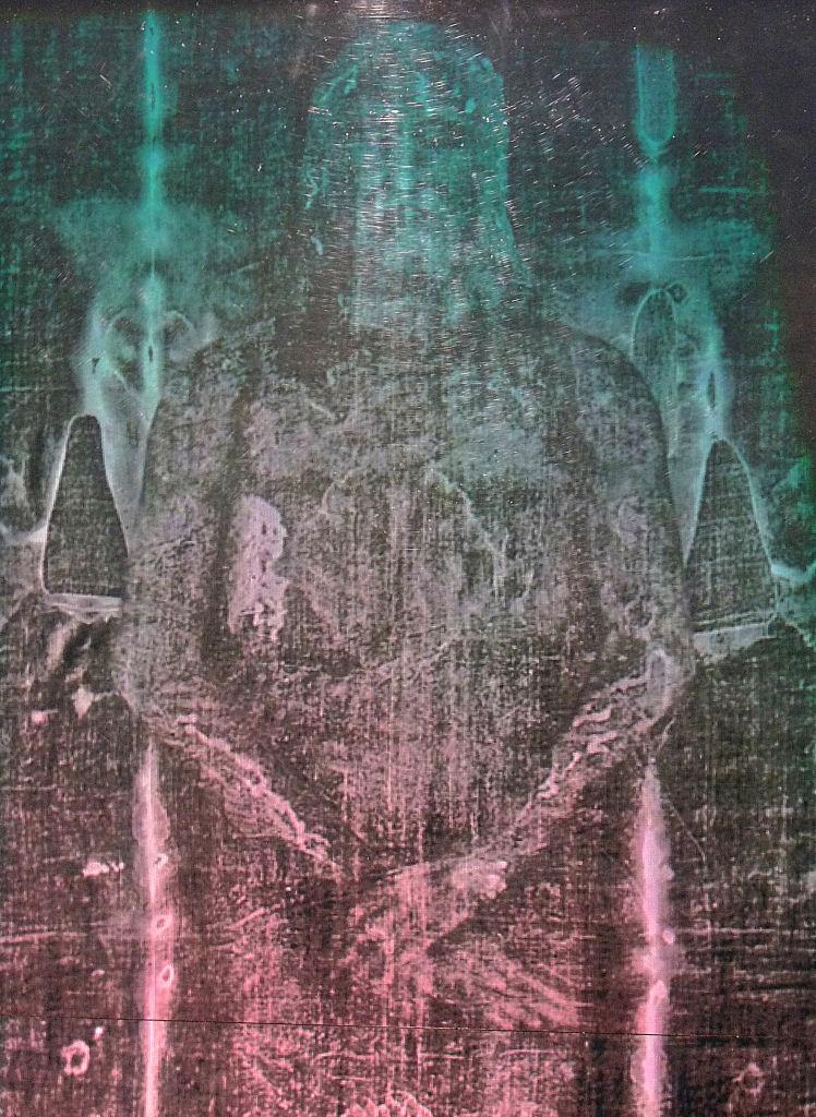 imagen holográfica de la Sábana Santa, detalle