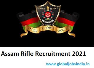 Assam Rifle Technical & Tradesman Rally Recruitment 2021
