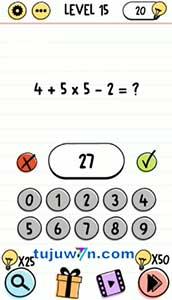 brain test 4+5x5-2=?