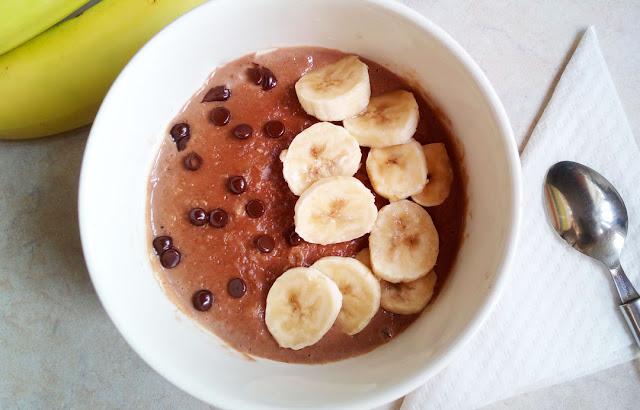 Βρώμη με μπανάνα και σοκολάτα