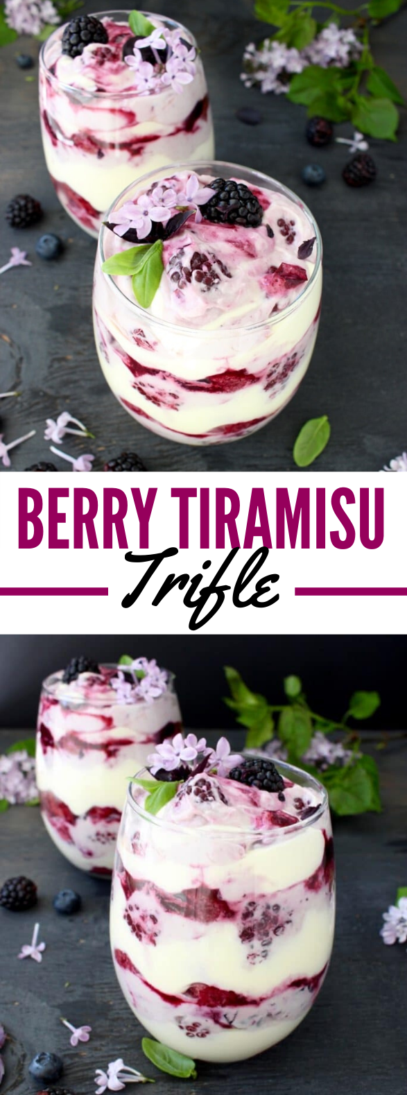 Berry Tiramisu Trifle Recipe #desserts #creamcheese