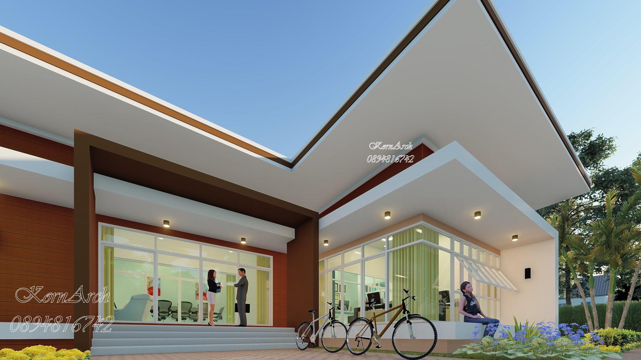 รับออกแบบออฟฟิศชั้นเดียว เจ้าของอาคาร KONNER CORPORATION CO.,LTD. สถานที่ก่อสร้าง บางพลี สมุทรปราการ