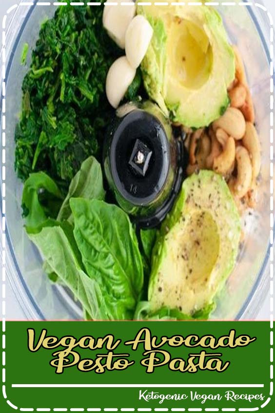 Vegan avocado pesto pasta is a quick and easy way to get in your greens Vegan Avocado Pesto Pasta