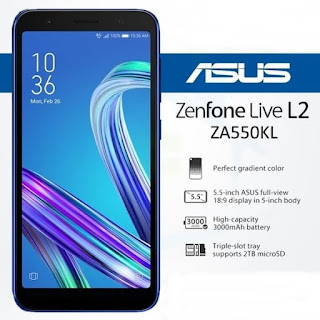 Download Asus ZenFone Live (L2) ZA550KL Firmware [RAW + OTA]