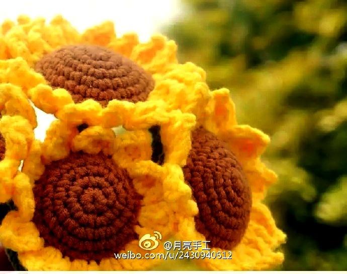 Ergahandmade crochet sunflower diagrams crochet sunflower diagrams ccuart Images
