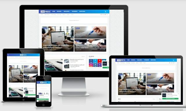 Download OnePress Template Blogger Responsive Gratis
