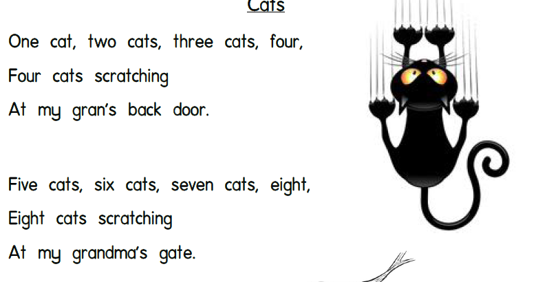 Passionate Teacher Tools: Text 9 - Cats Poem (With ...