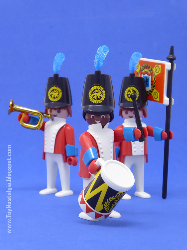 """Playmobil 3544, infantería """"redcoat"""" con bandera, tamboril y trompeta  (Playmobil 3544 - redcoats)"""