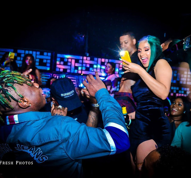 Zlatan Ibile Excited As He Hugs Cardi B, Shares Photos