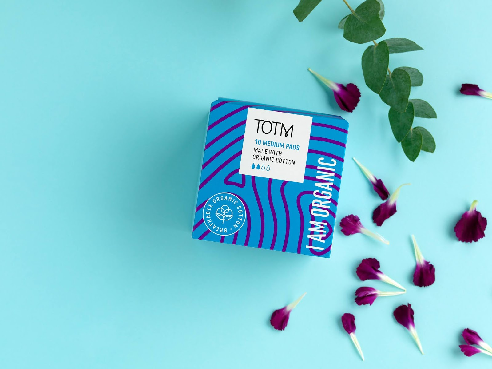 TOTM organic cotton period products