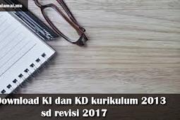 Download KI dan KD kurikulum 2013 sd revisi 2017