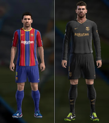 Barcelona Home & Away 20-21 For PES 2013