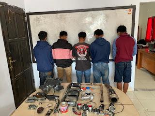 Polisi Ringkus Pelaku Komplotan Pencuri Sparepart Kendaraan di Objek Wisata Pango-pango