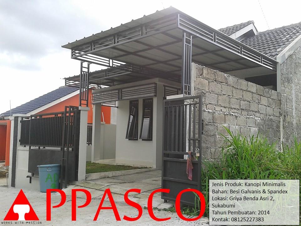 Kanopi Minimalis Modern Atap Spandex di Sukabumi