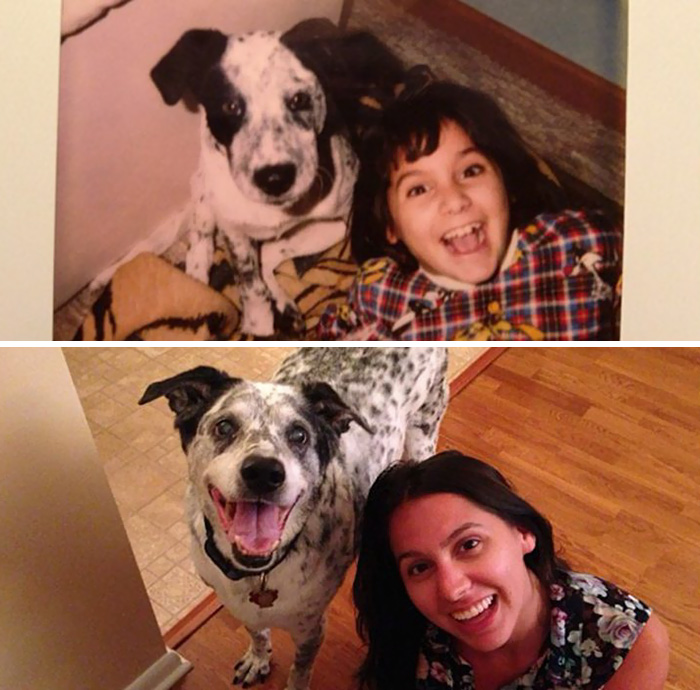 30 Heart-Warming Photos Of Dogs Growing Up Together With Their Owners - Best Friends Since 1997