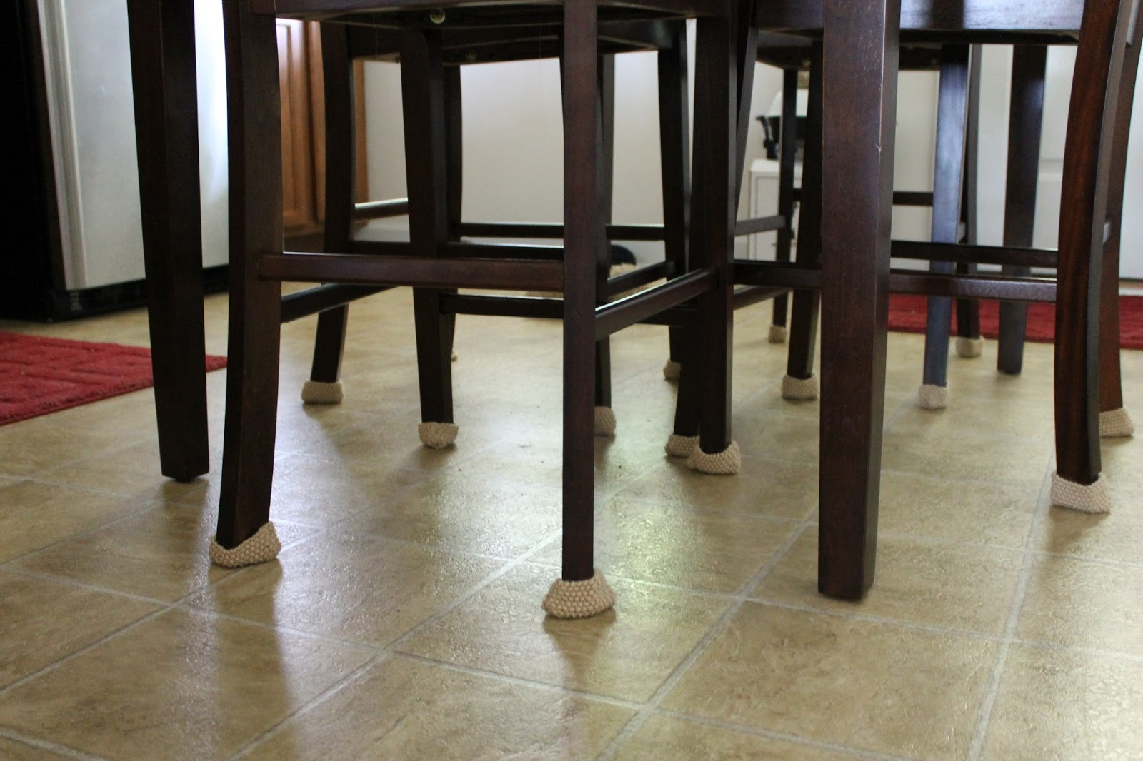 Meg Joins The Navy Knit Kitchen Chair Leg Protectors