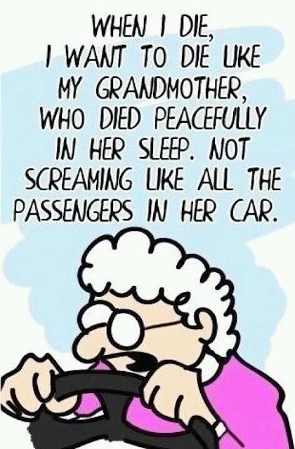 Funny Grandmother Dies Screaming Cartoon